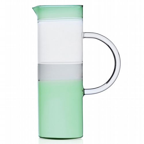 Milanese Glass - Triple-Tone Jug - Green, Smoke & Clear